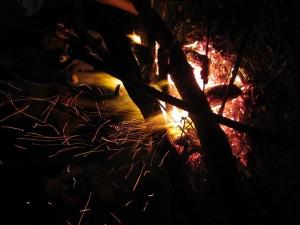 Freibad und Lagerfeuer